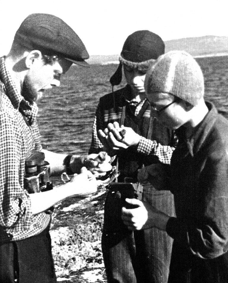 1959 г. В.В. Бианки и ленинградские юннаты.